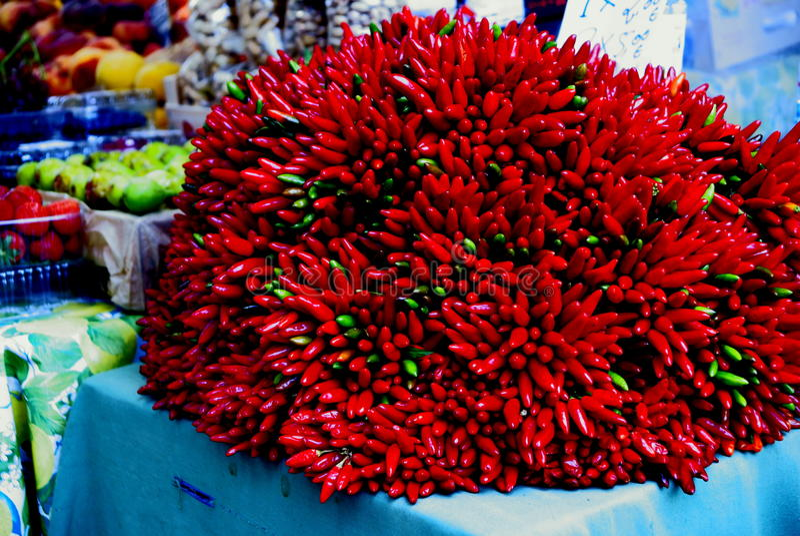 Pimientas rojas en Venecia imágenes de archivo libres de regalías