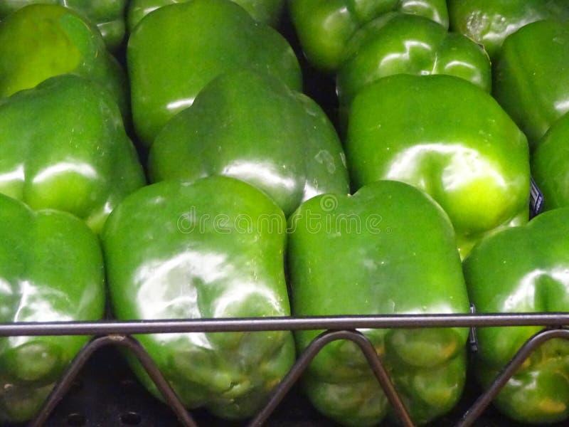 Pimientas verdes fotografía de archivo