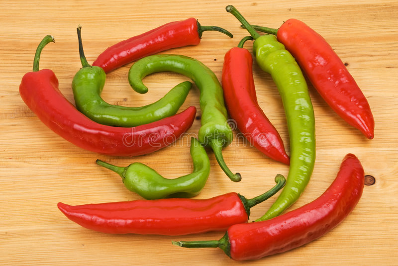Pimiento peppers royalty free stock photo