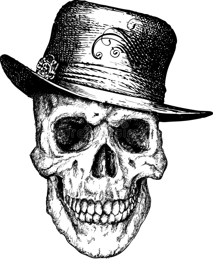 Pimp schedelillustratie stock illustratie