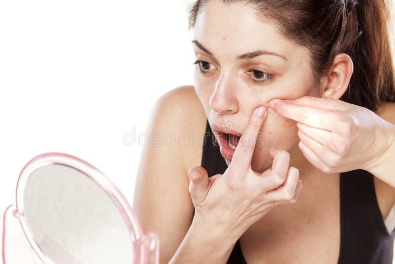 Download Pimples foto de stock. Imagem de menina, caucasiano, bonito - 65576576