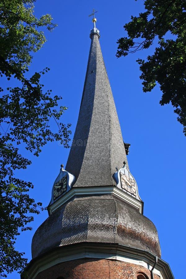 Pináculo da igreja de Rellingen imagem de stock royalty free