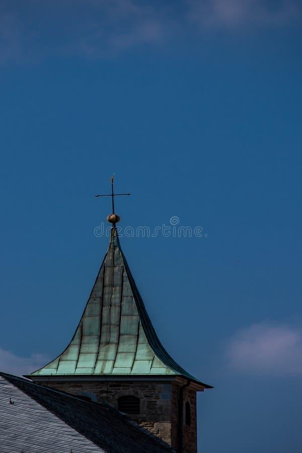 Pináculo da igreja em Alemanha imagens de stock