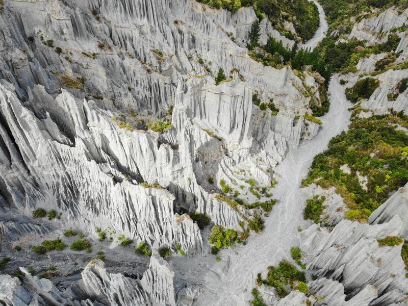 Pináculos de Putangirua, Nova Zelândia imagem de stock royalty free