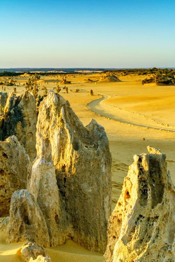 Pináculos del parque nacional del nambung, Australia occidental 5 fotografía de archivo libre de regalías