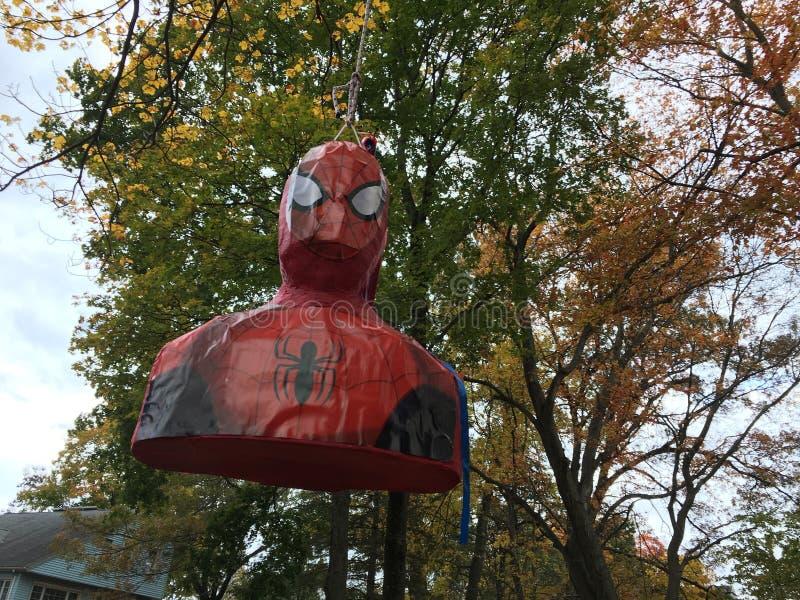 Pinãda de Spider-Man foto de stock