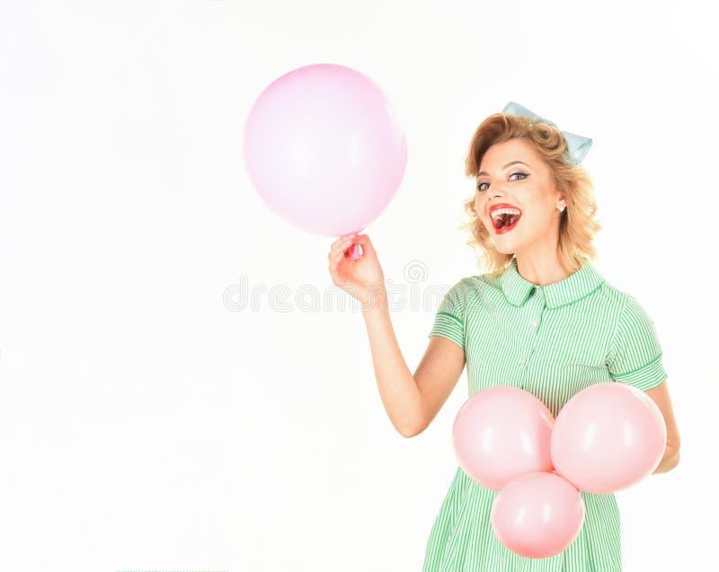Pin与气球 免版税库存图片
