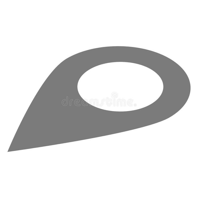 Pin地图象,等量样式 库存例证