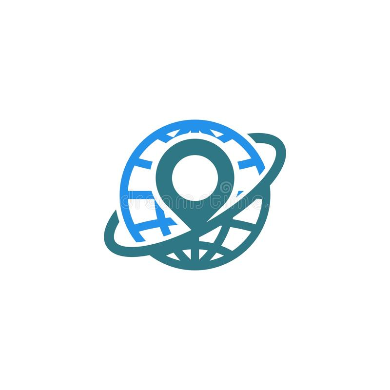 Pin地点商标 库存例证