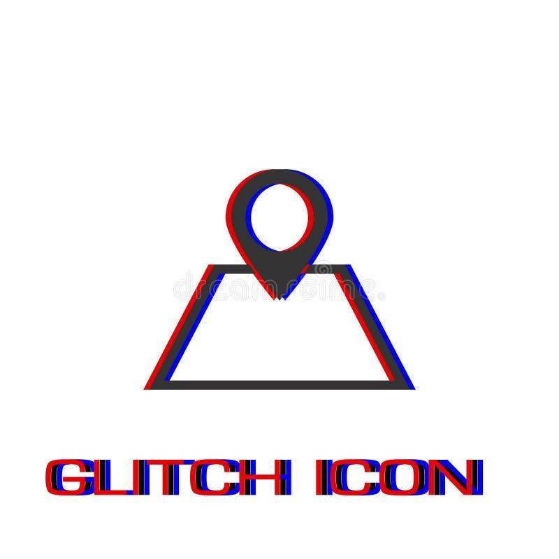 Pin на значке карты плоско иллюстрация штока