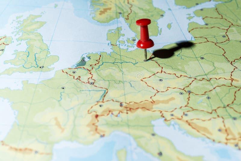 Pin указывая Берлин стоковые фотографии rf
