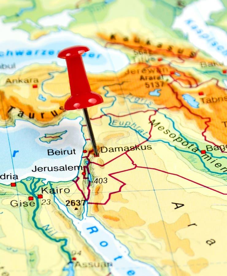 Pin установленный на Дамаск стоковые изображения rf