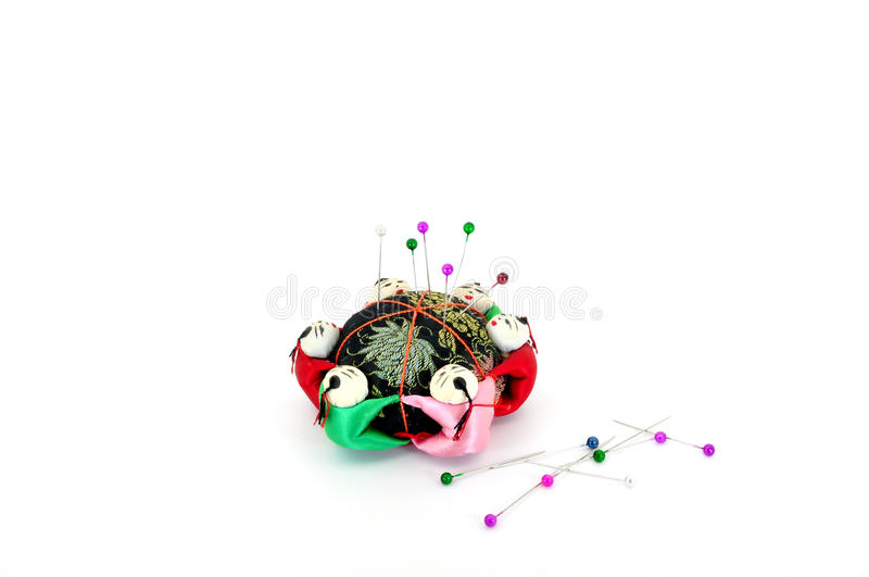 Download Pin cushion with pins stock photo. Image of chinese, haberdashery - 15768054