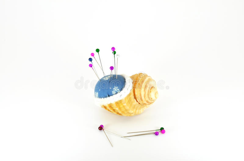 Download Pin cushion in shell stock photo. Image of leisure, creativity - 15768100