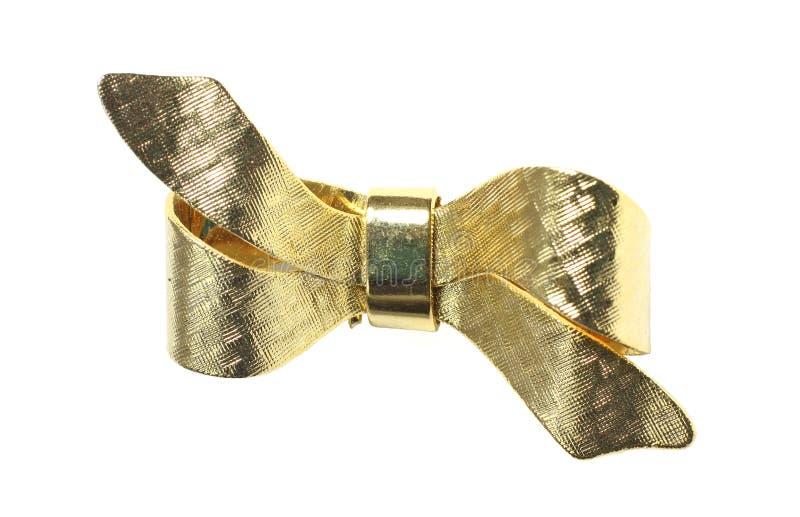 Pin da curva do ouro do vintage fotografia de stock