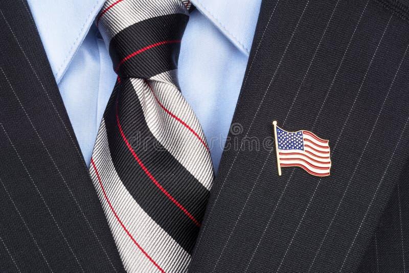 Pin de revers de drapeau américain photo stock