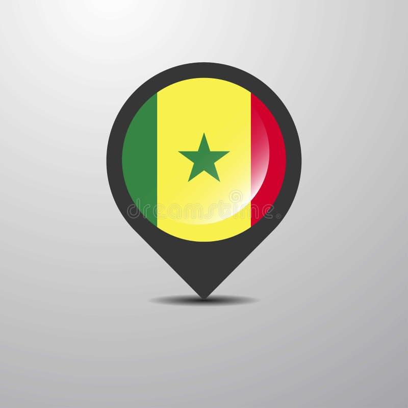 Pin del mapa de Senegal libre illustration