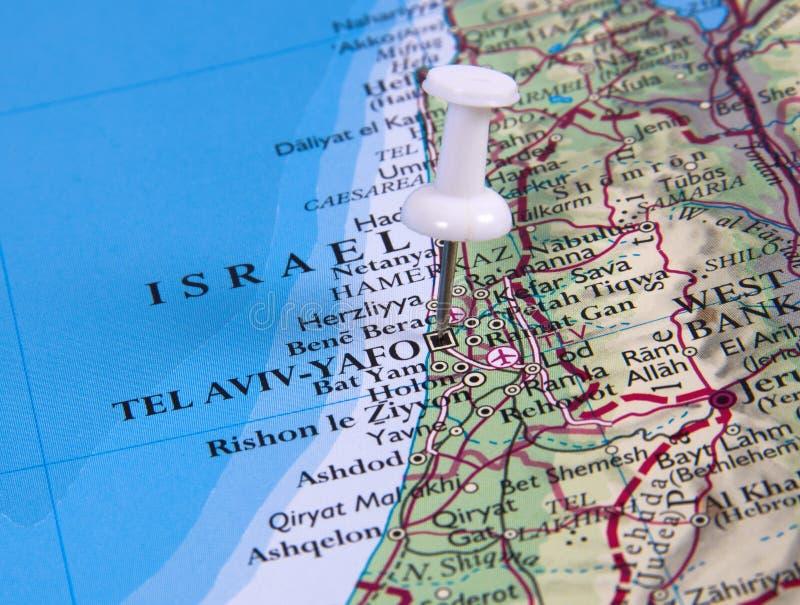 Pin in der Karte stockbilder