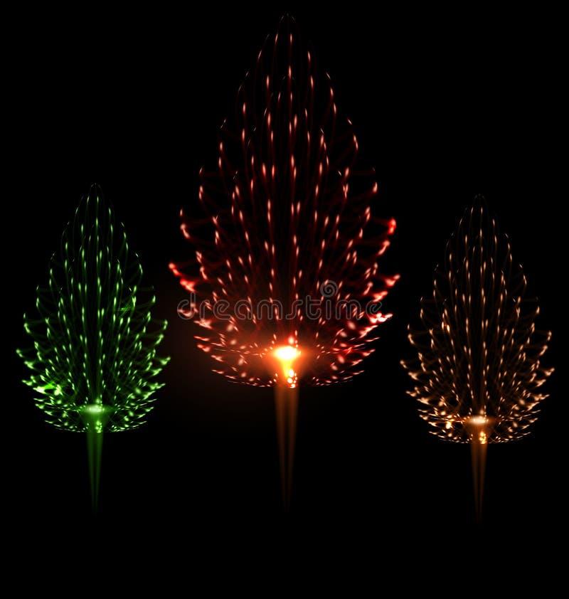 Pin différent de forme de couleur du feu d'artifice trois de fête illustration stock