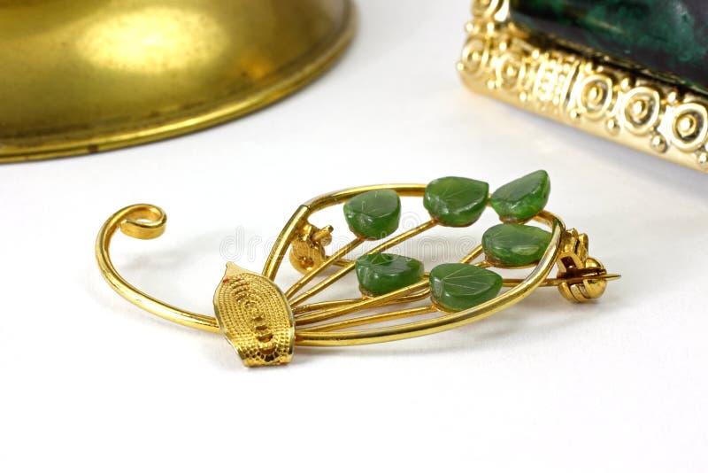 Pin do jade e Barrette imagens de stock