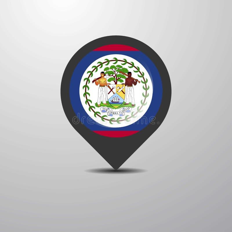 Pin do mapa de Belize ilustração royalty free