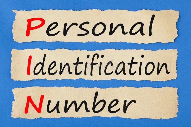 PIN do número de identificação pessoal imagens de stock