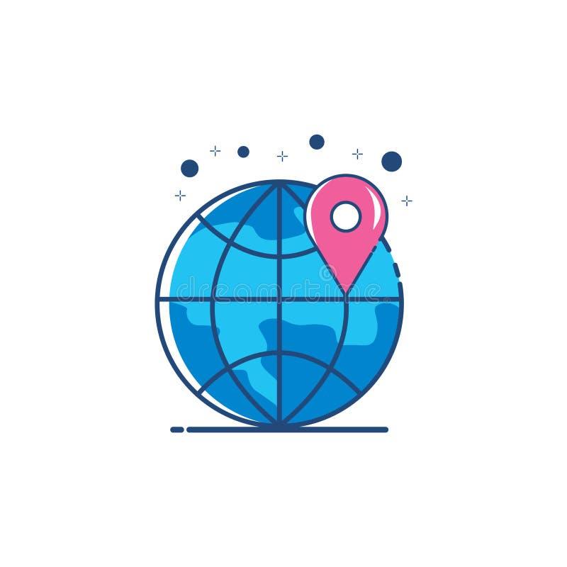 Pin icon vector illustration