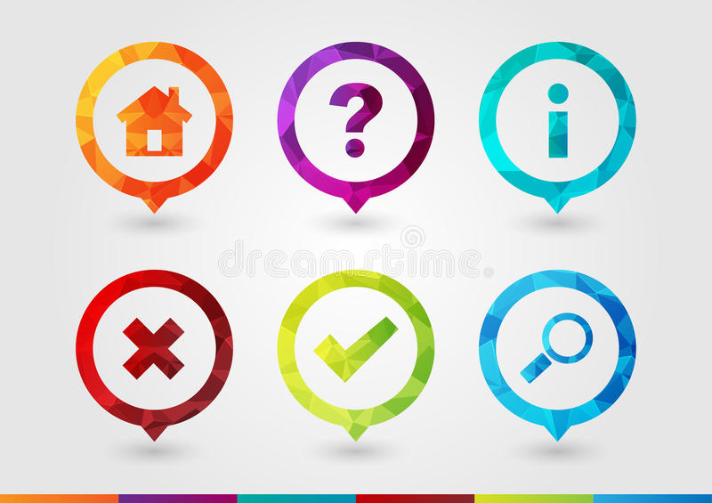 Pin Icon set for business with a pixel diamond texture. Pin Icon set for business. Home Hint Info Wrong Right Search. Creative Symbol style