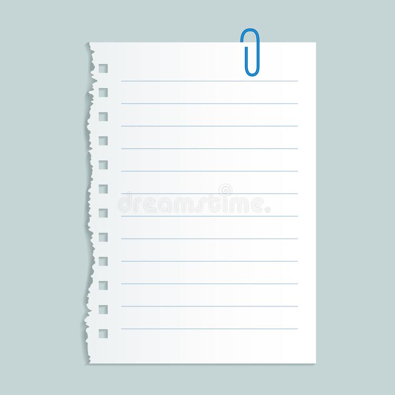 Pin line paper concept background, realistic style stock illustration