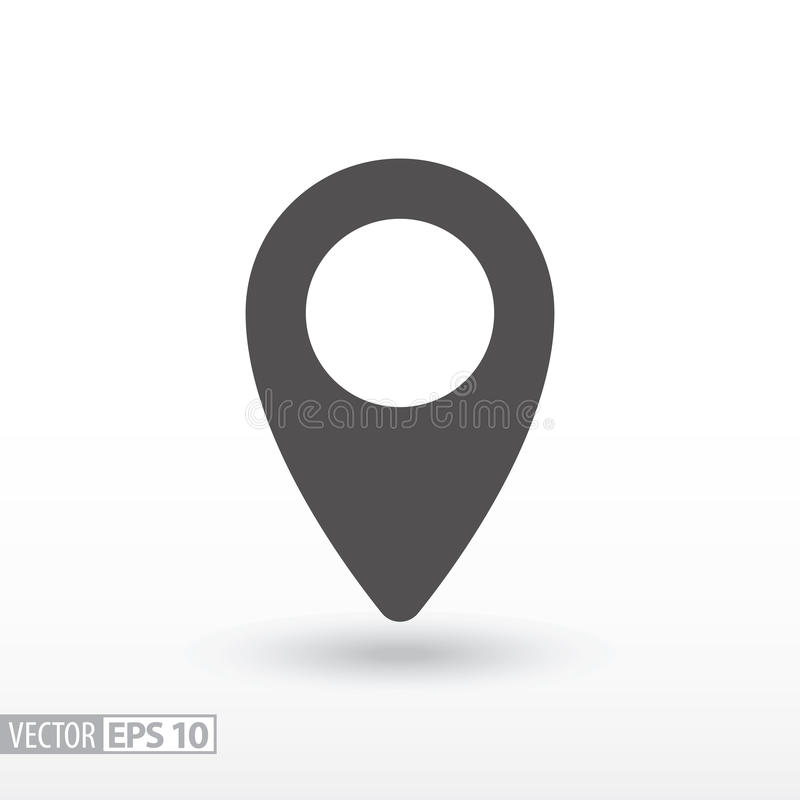 Free Pin Location - Flat Icon Royalty Free Stock Photography - 83381127