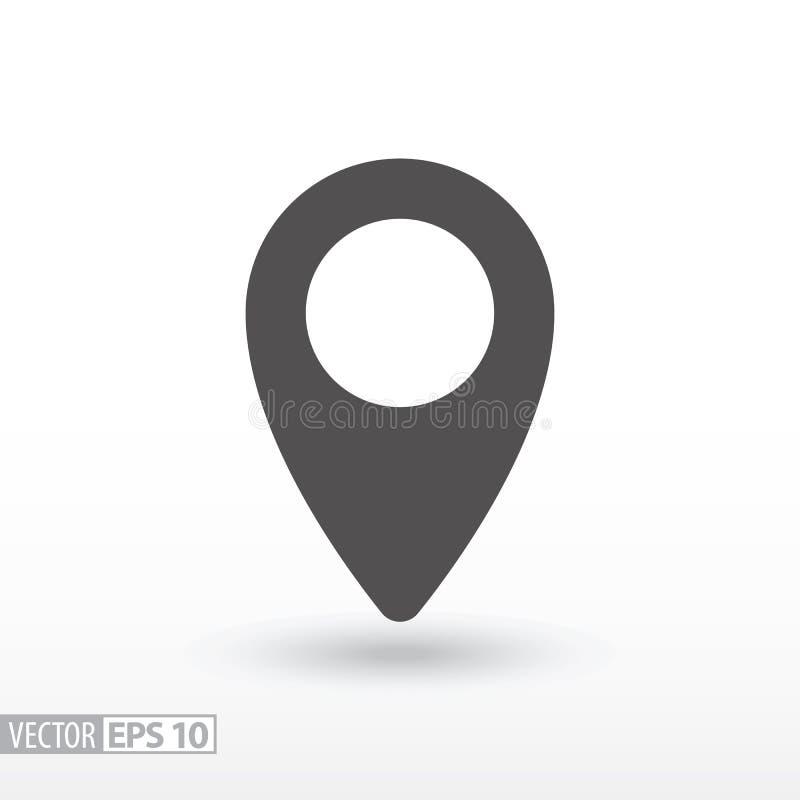 Pin location - flat icon royalty free illustration