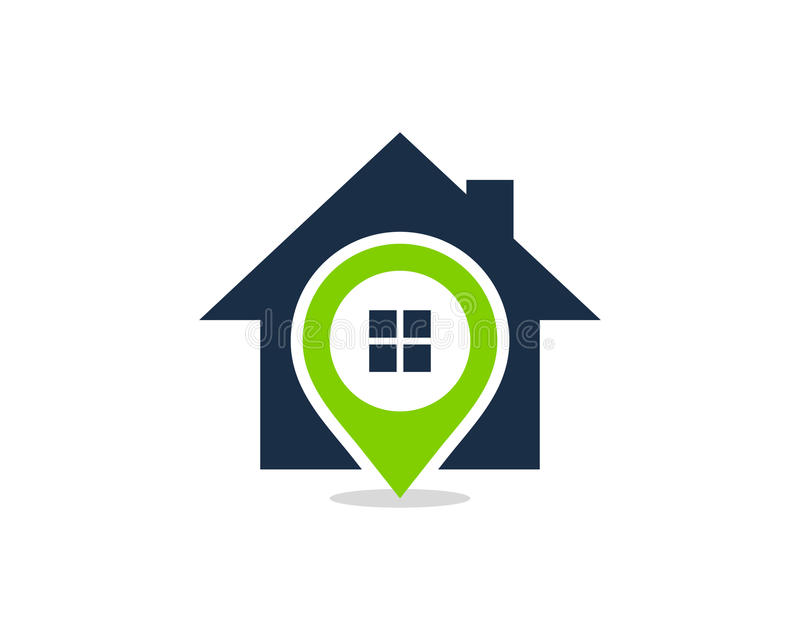 Pin Location House Home Icon Logo Design Element royalty free stock image