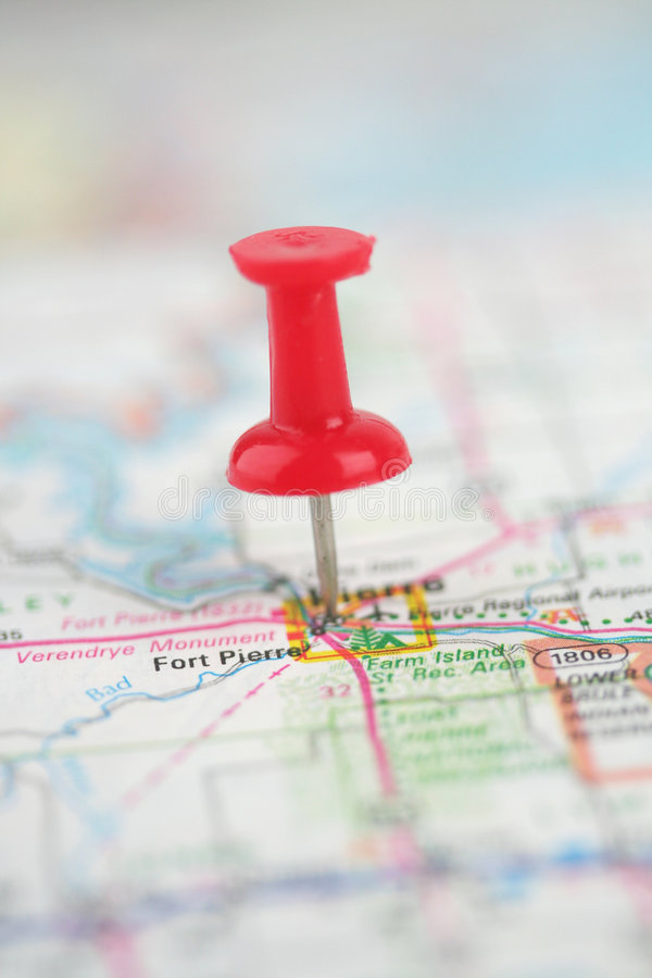 Download Pin In Map stock image. Image of street, directions, united - 4951279