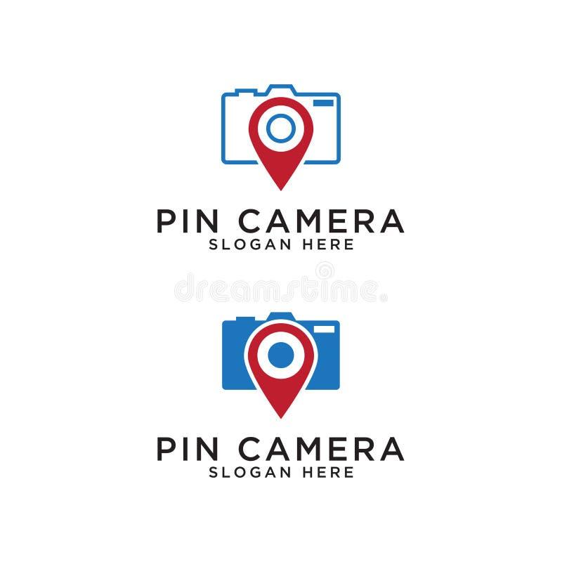 Pin map and camera logo design template. Illustration of pin map and camera logo design template vector vector illustration