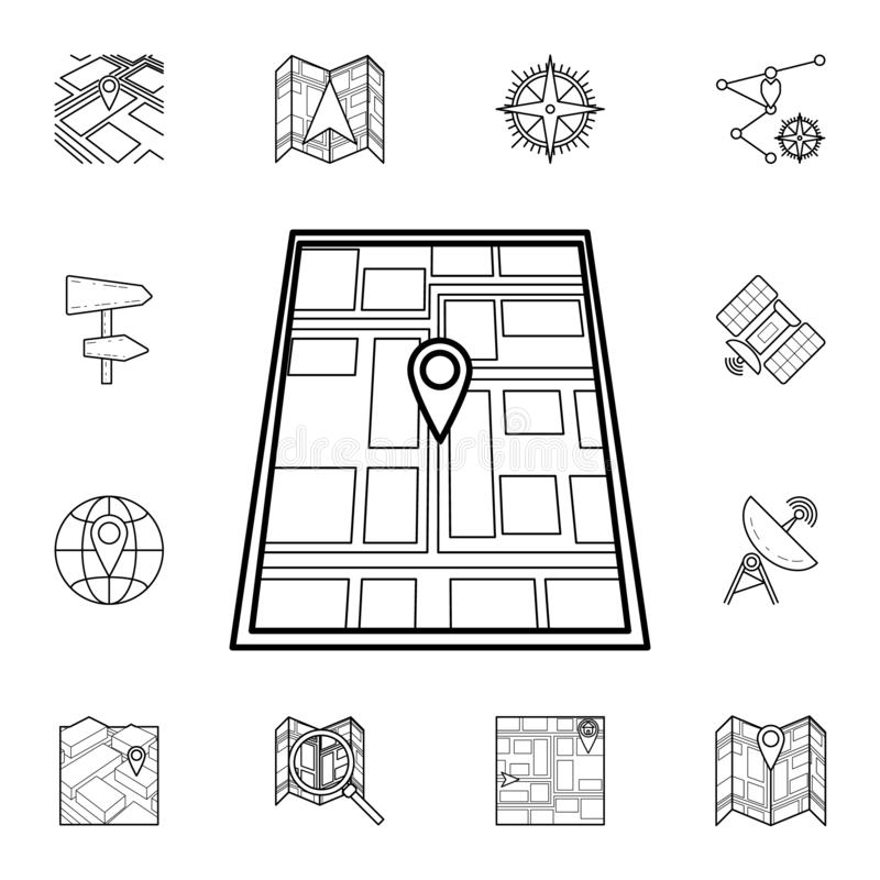 Pin on the map icon. Detailed set of navigation icons. Premium graphic design. One of the collection icons for websites, web. Design, mobile app on white vector illustration