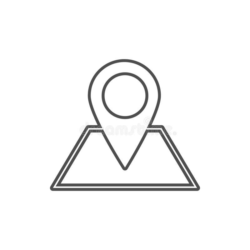 Pin on the map icon. Element of cyber security for mobile concept and web apps icon. Thin line icon for website design and. Development, app development on vector illustration