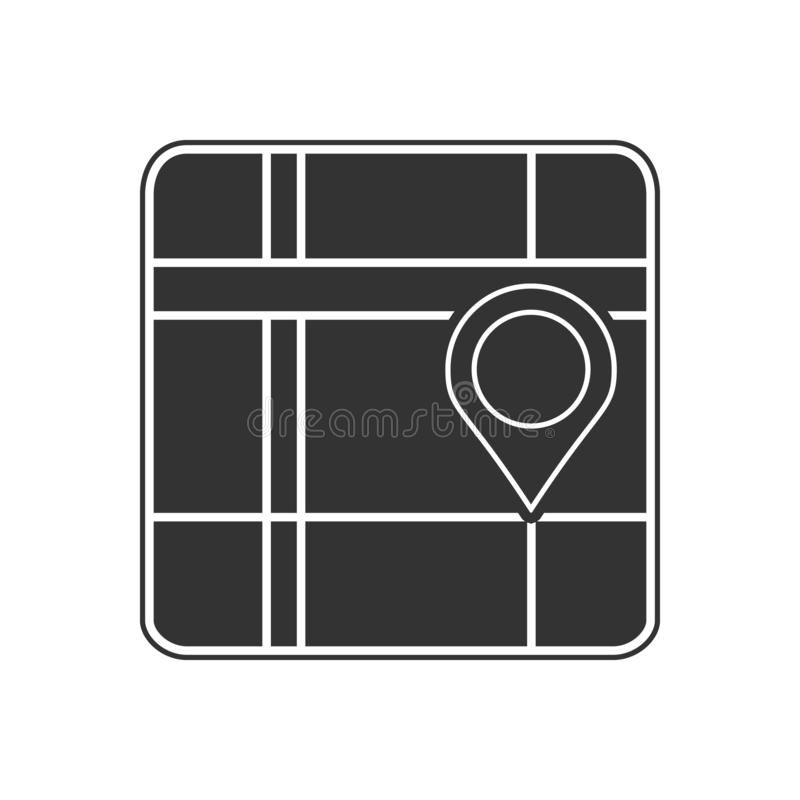 Pin on the map icon. Element of navigation for mobile concept and web apps icon. Glyph, flat icon for website design and. Development, app development on white royalty free illustration