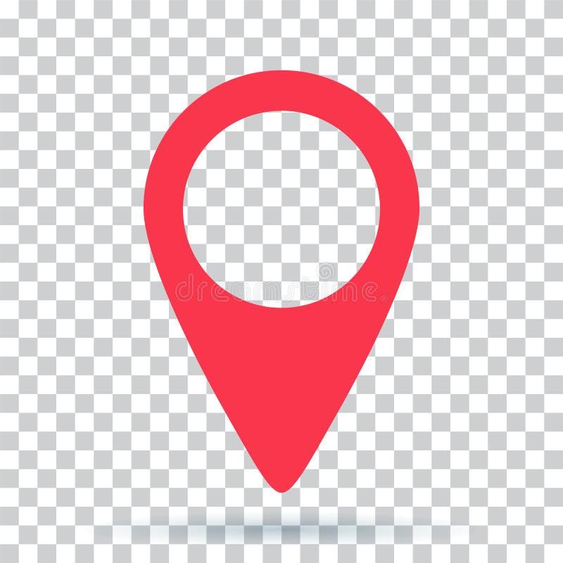Pin map navigation localization icon image stock illustration