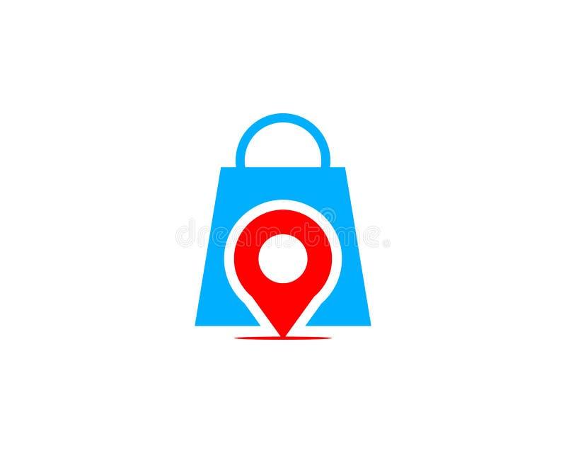 Pin Point Shop And Shopping Logo Design Element Stock de