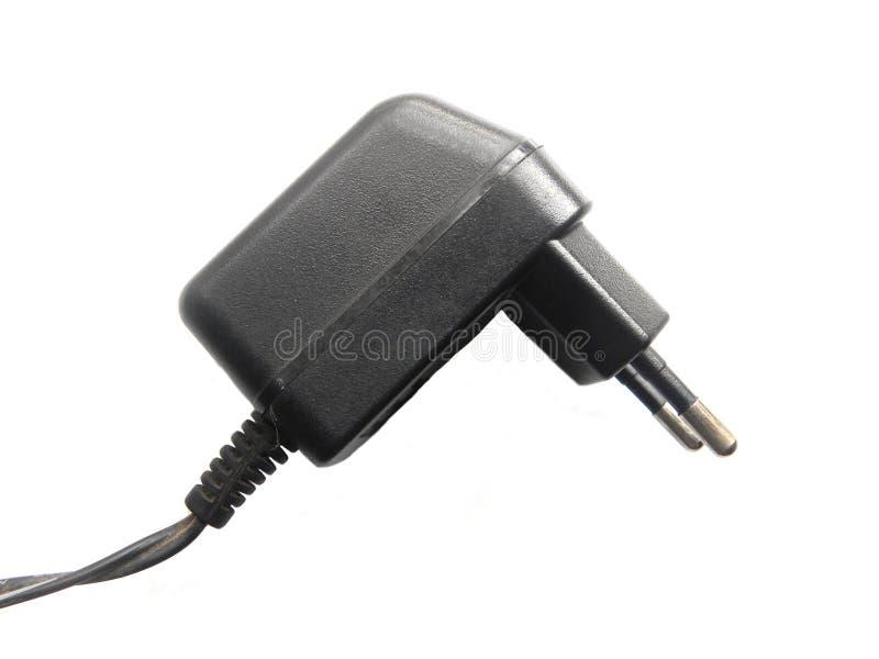 2 pin power plug adapter stock image