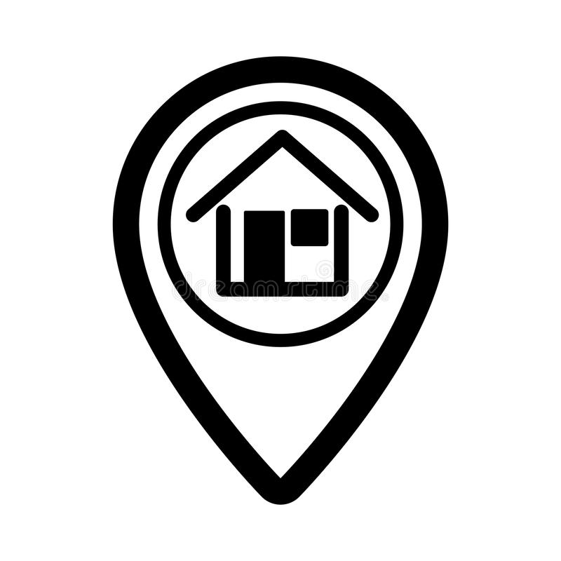 Pin real estate isolated icon royalty free illustration