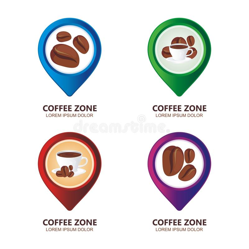 Pin set for Coffee cafe maps. Vector illustration, new and editable vector for your element design, very suitable for marking coffee shop business vector illustration