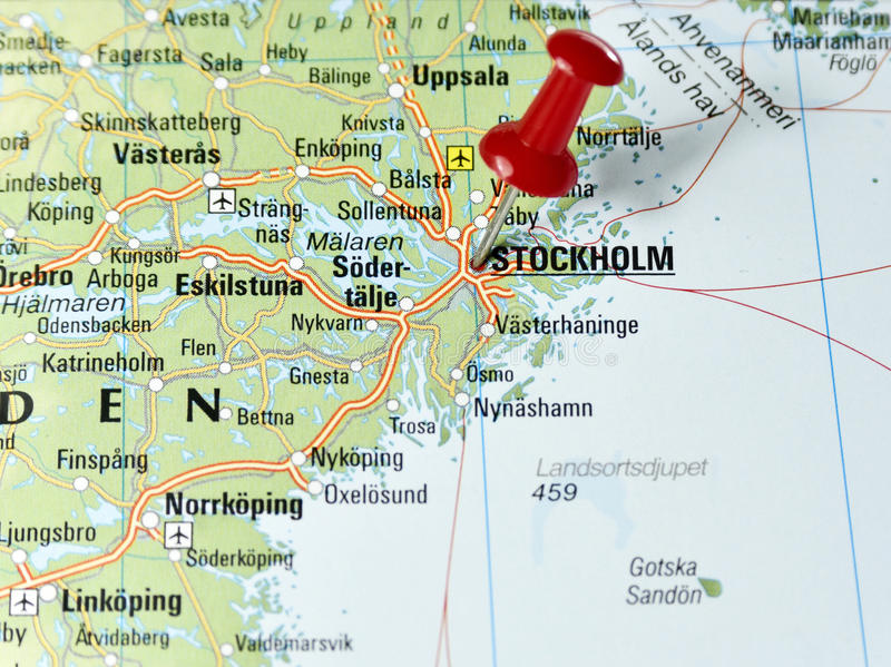 Pin set on Stockholm stock image Image of topography 69774929