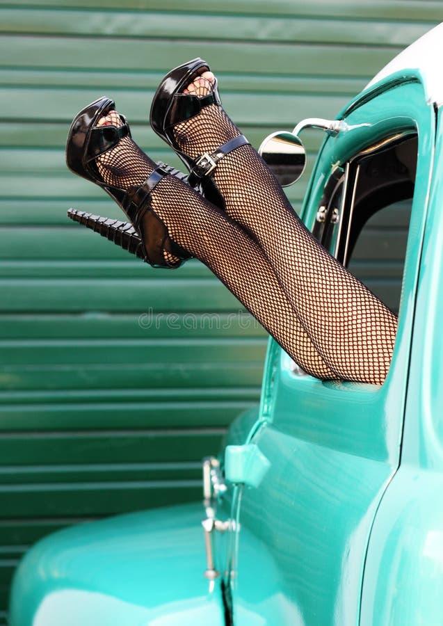 Pin 'sexy' retro acima dos pés fotografia de stock royalty free