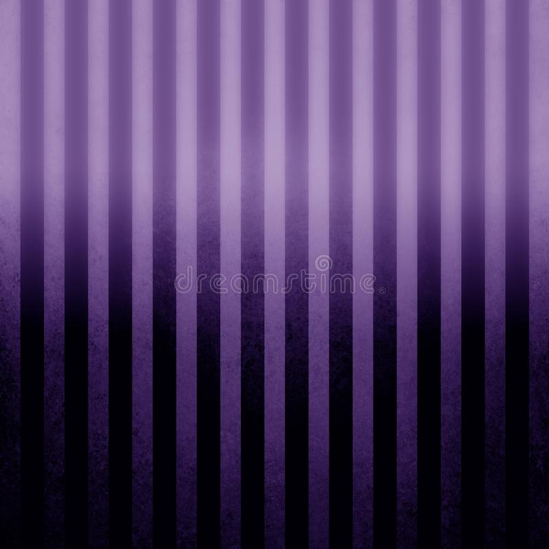 Pin striped purple vintage textured background with black and purple gradient color and shine royalty free illustration