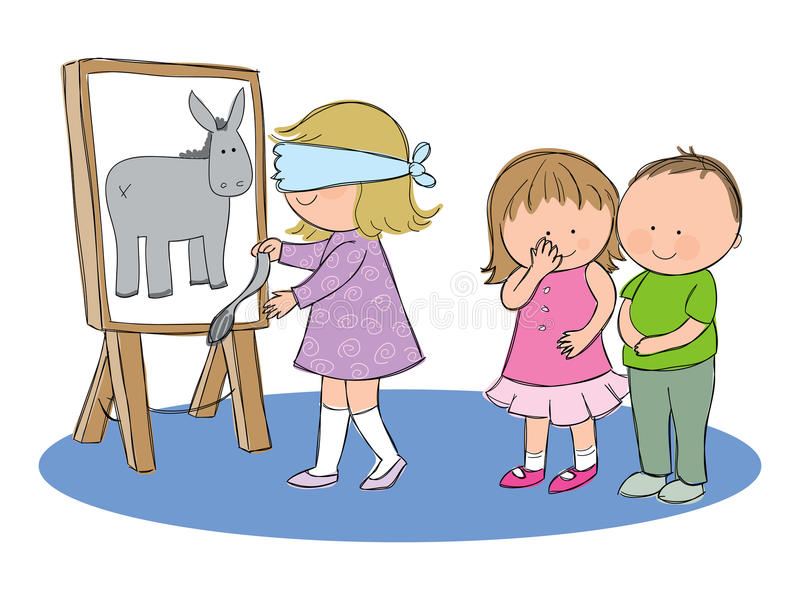 Download Pin the tail on the donkey stock vector. Image of childhood - 31692658