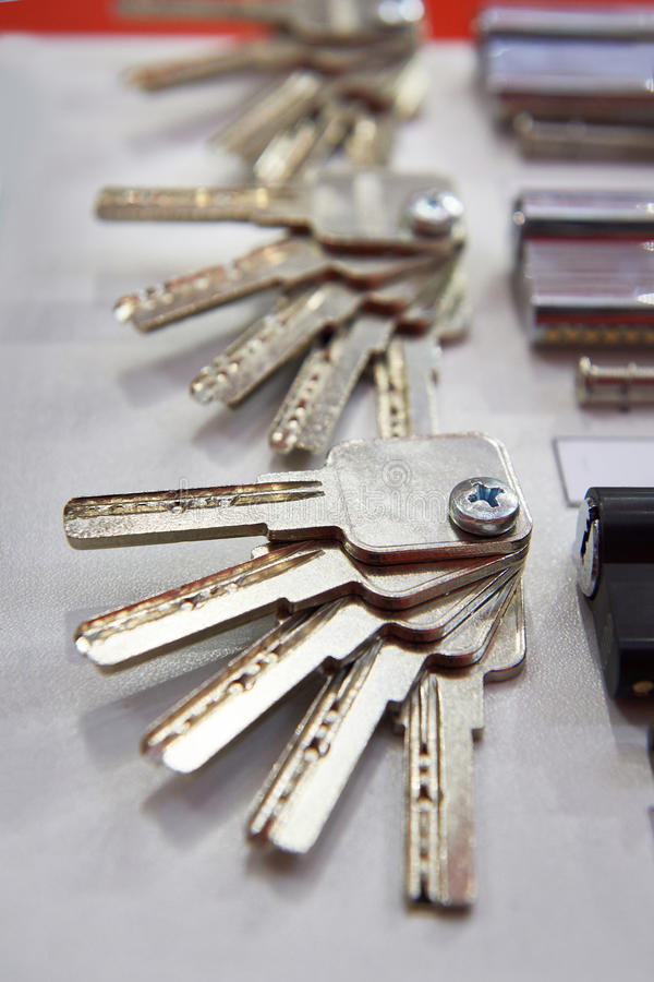 Pin-Trommelschlüssel für Zylinderschloß lizenzfreies stockbild