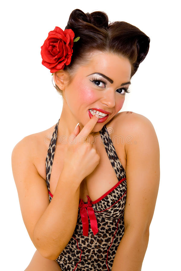 Download Pin-Up stock photo. Image of hair, caucasian, cute, girl - 12804022