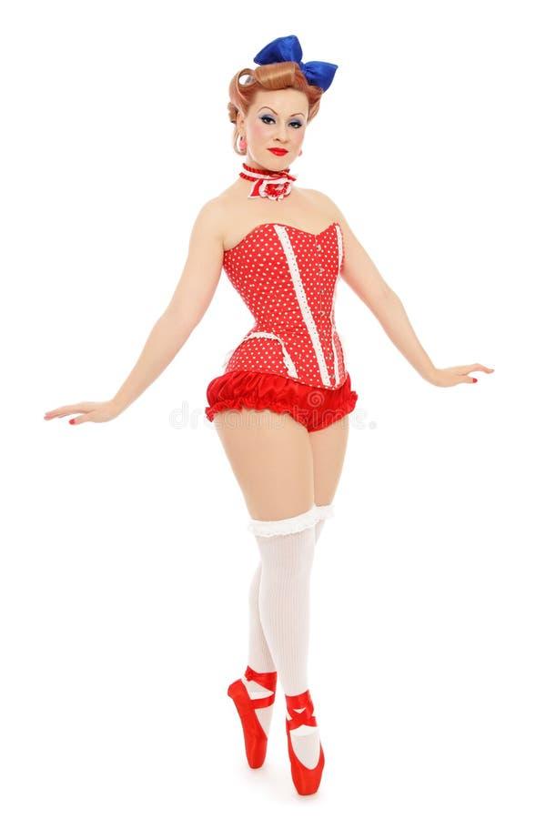 Pin-up ballerina royalty free stock photo