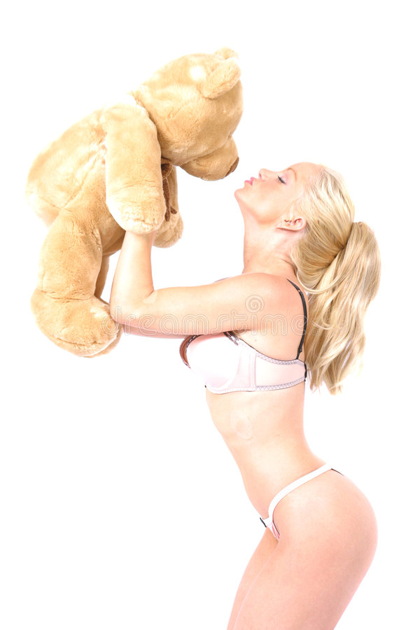 Download Pin Up with Bear stock image. Image of female, kiss, hips - 153901